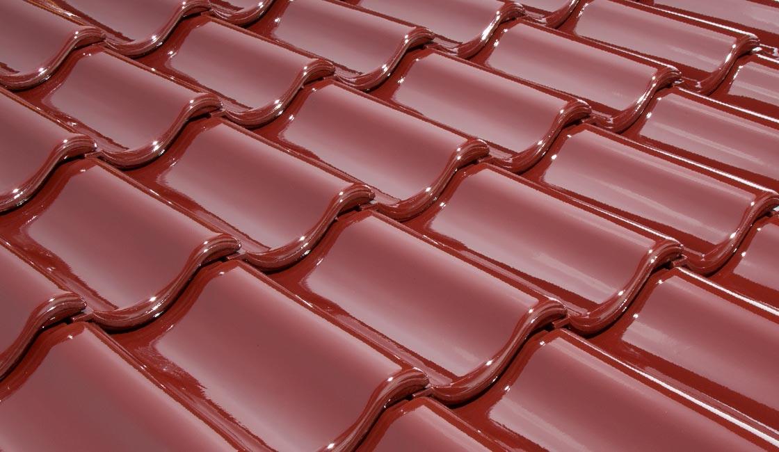 Rote Dachfläche