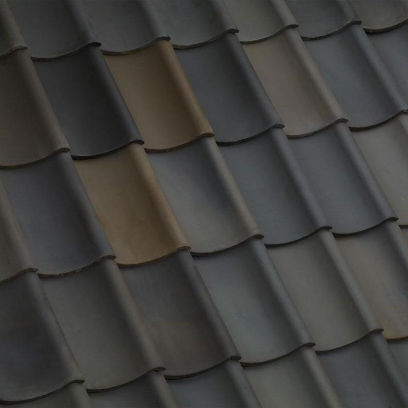 Laumans Dachziegel HOHLPFANNE in Farbe Nr. 116 – bunt-gedämpft