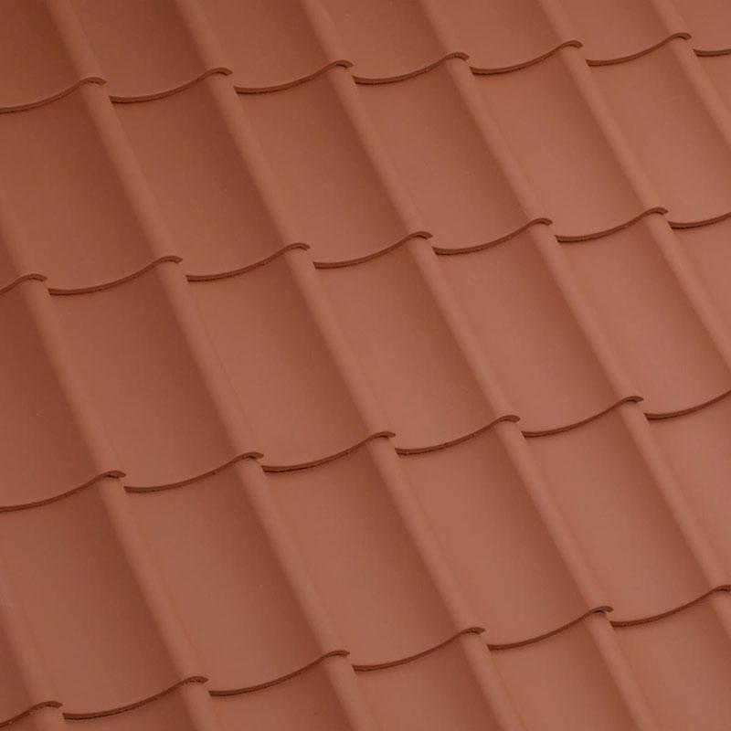 Laumans Dachziegel HOHLPFANNE in Farbe Nr. 11 – naturrot