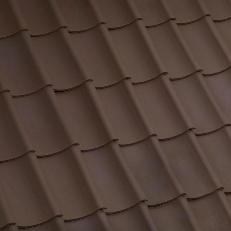 Laumans Dachziegel HOHLPFANNE in Farbe Nr. 35 – braun