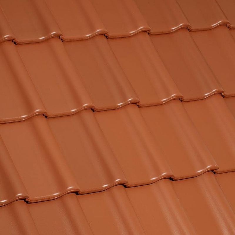 Laumans Dachziegel TIEFA SUPRA® in Farbe Nr. 14 – rot