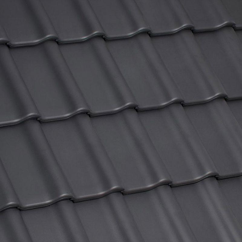 Laumans Dachziegel TIEFA SUPRA® in Farbe Nr. 30 – xenon-grau