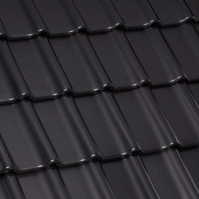Laumans Dachziegel TIEFA SUPRA® in Farbe Nr. 20 – schwarz