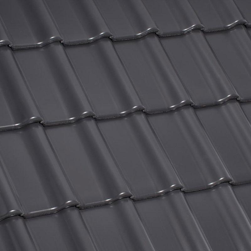 Laumans Dachziegel TIEFA SUPRA® in Farbe Nr. 41 – grau-satiniert