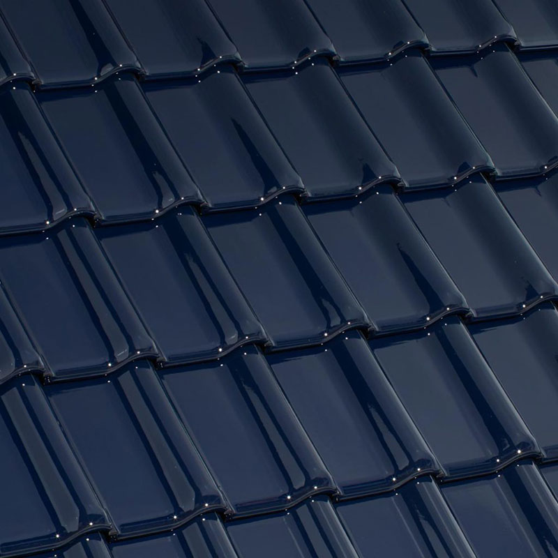 Laumans Dachziegel TIEFA XLTOP® in Farbe Nr. 101 – azur-dunkel