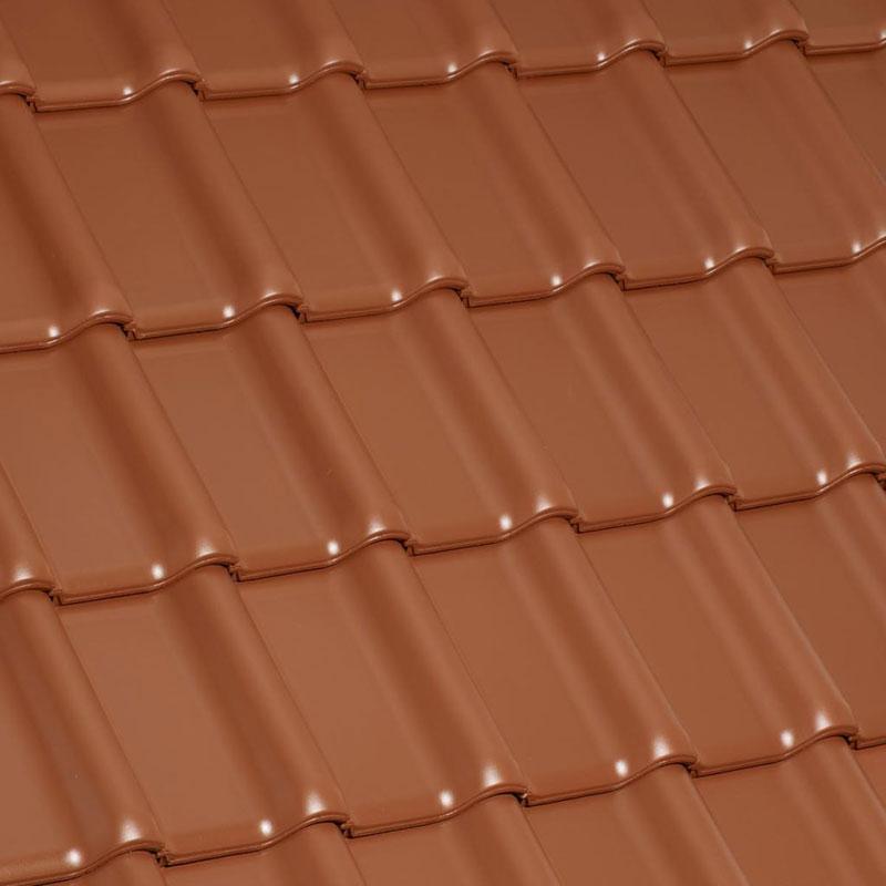 Laumans Dachziegel TIEFA XLTOP® in Farbe Nr. 14 – rot