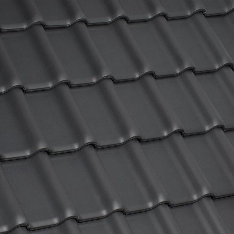 Laumans Dachziegel TIEFA XLTOP® in Farbe Nr. 30 – xenon-grau