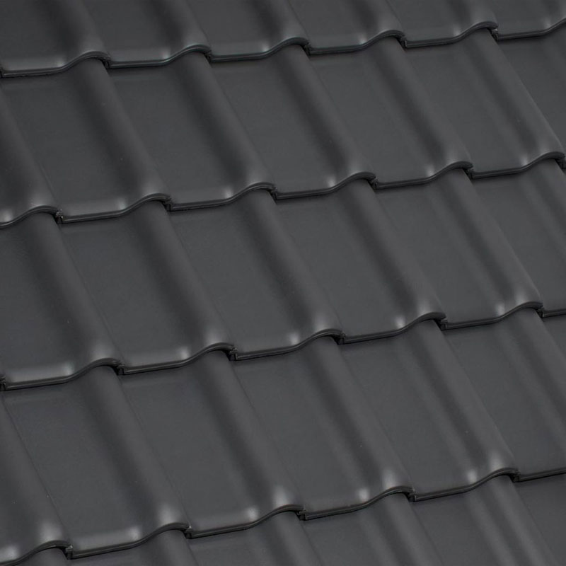 Ziegelfarben - Dachziegeloberfläche: Laumans Dachziegel TIEFA XLTOP® in Farbe Nr. 30 – xenon-grau