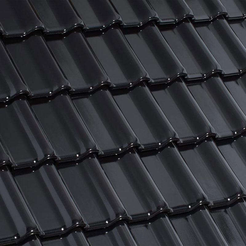 Laumans Dachziegel TIEFA XLTOP® in Farbe Nr. 20 – schwarz