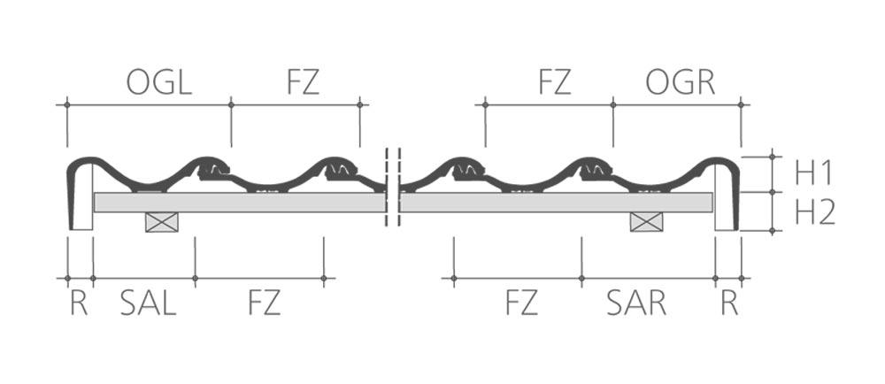 ideal variabel der schwungvolle hohlfalz dachziegel. Black Bedroom Furniture Sets. Home Design Ideas