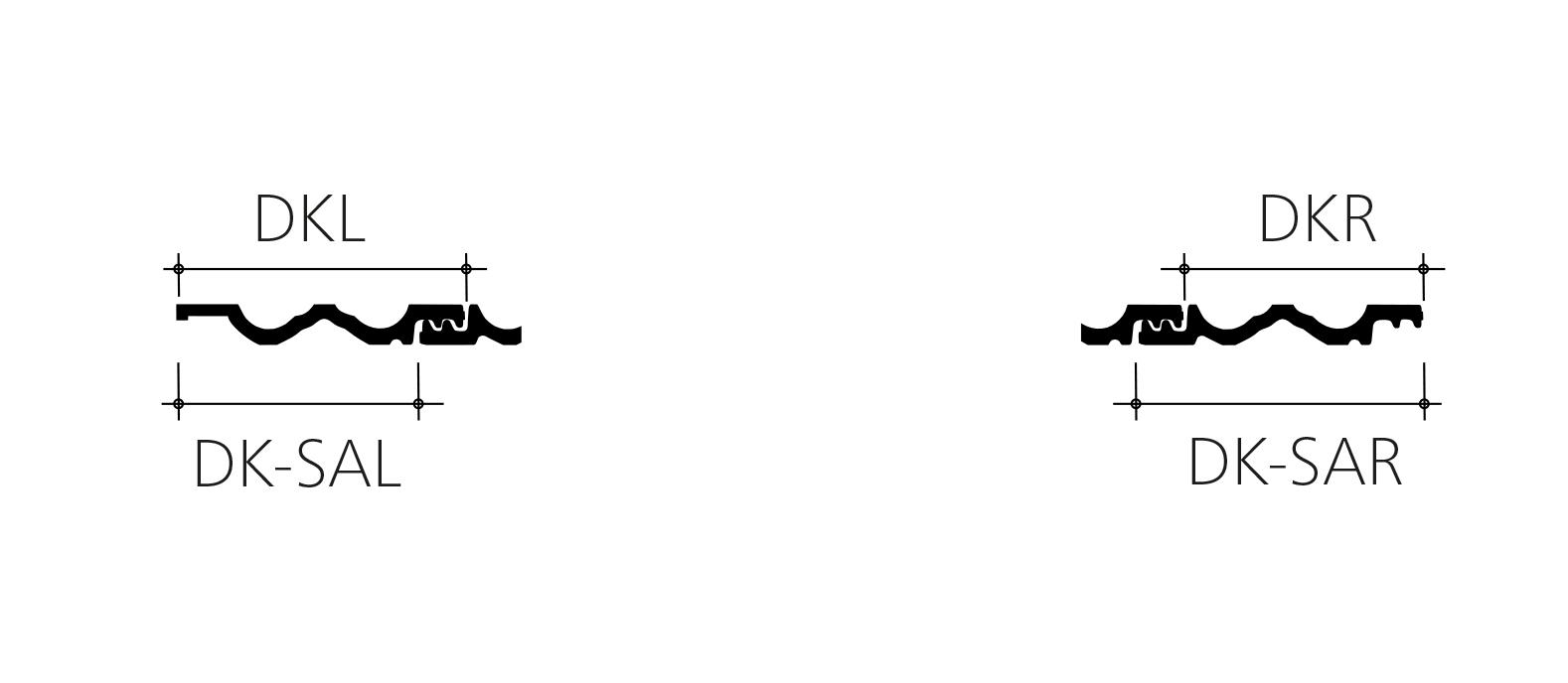 Mulden Variabel Ortgang technische Zeichnung