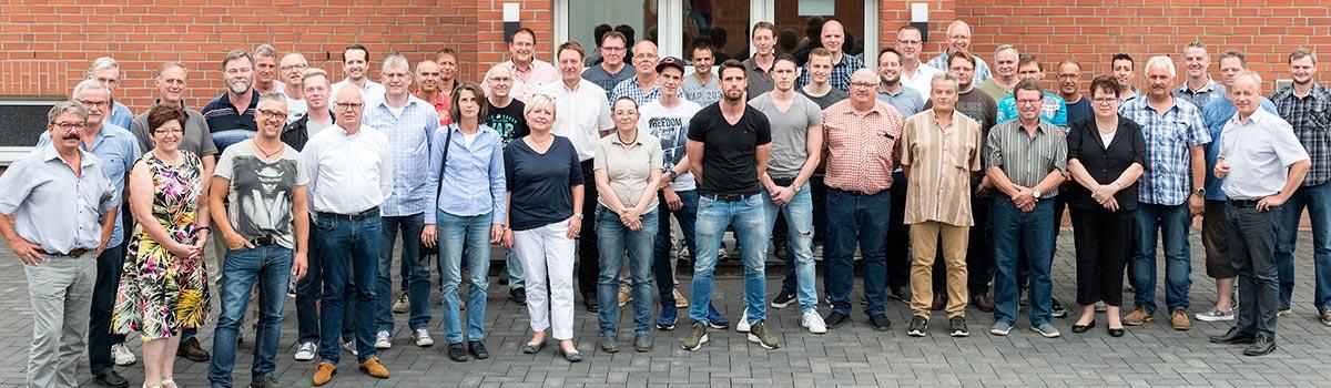 Karriere bei Laumans - Gruppenfoto der Gebr. Laumans GmbH & Co. KG