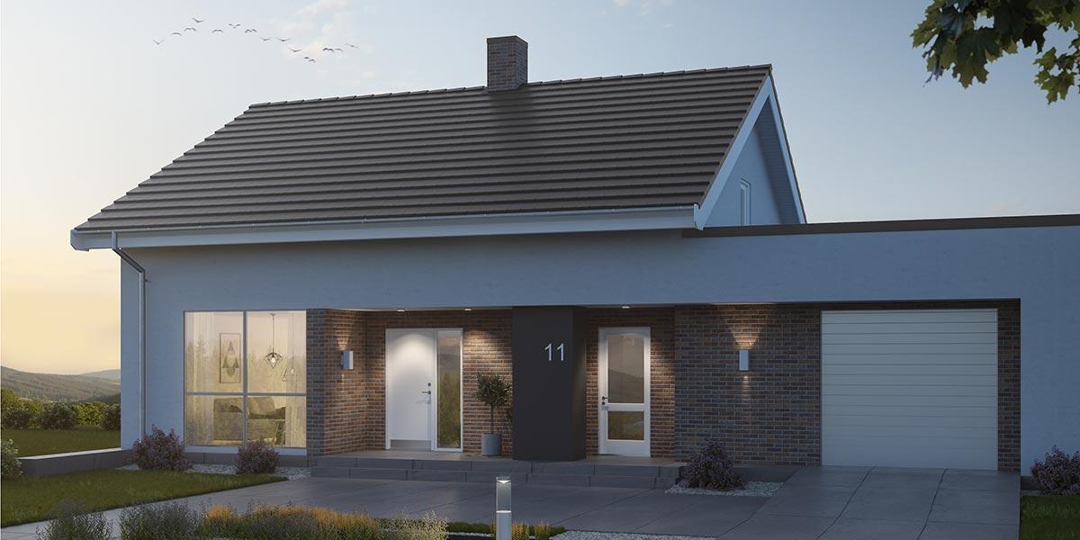 Referenzobjekt mit Laumans Premium Dachziegel PLANUX®