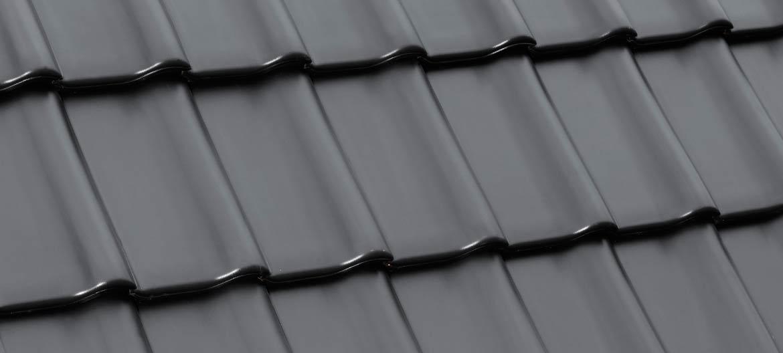 Laumans Dachziegel TIEFA SUPRA® in Farbe Nr. 25 – graphitschwarz