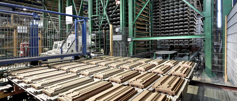 Dachziegelherstellung - Trocknungsprozess bei der Dachziegelherstellung